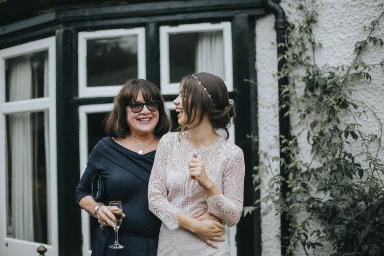 Bride in Suzanne Neville Separates via The Mews Bridal Boutique | Intimate Wedding at The Olde Bell Pub, Berkshire | Revival Rooms Floral Design, Decor & Styling | Grace Elizabeth Photo & Film