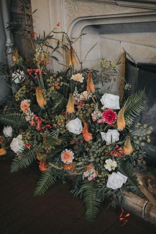 Wedding Flowers | Intimate Wedding at The Olde Bell Pub, Berkshire | Revival Rooms Floral Design, Decor & Styling | Grace Elizabeth Photo & Film