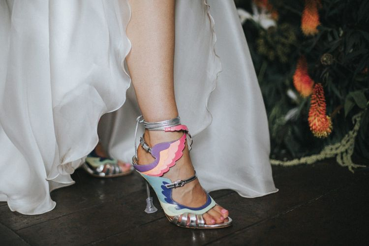 Sophia Webster Shoes | Intimate Wedding at The Olde Bell Pub, Berkshire | Revival Rooms Floral Design, Decor & Styling | Grace Elizabeth Photo & Film