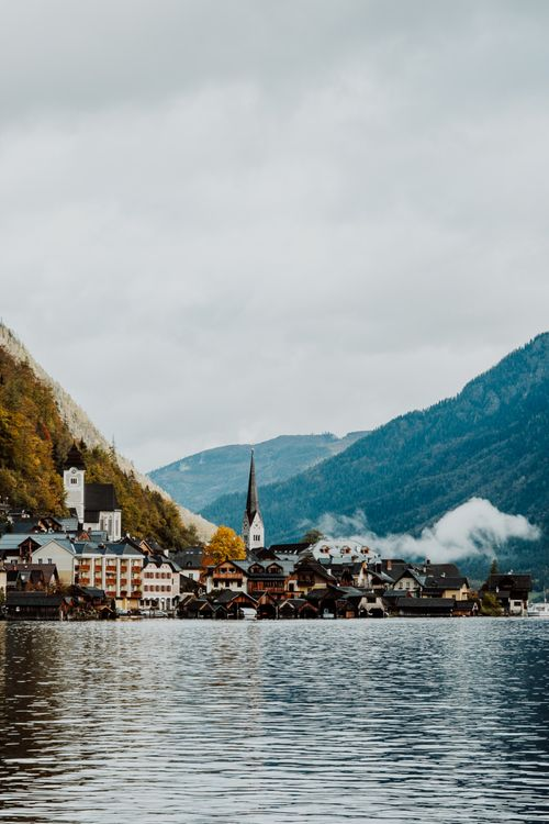 Scenery at Hallstatt, Austria