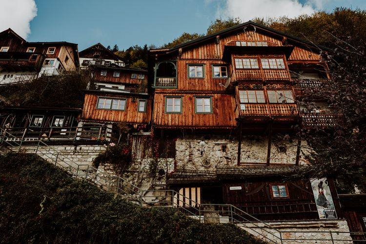House in a Hill at Hallstatt, Austria