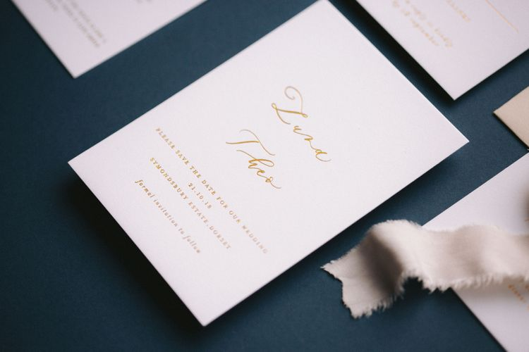 Gemma Milly Wedding Stationery Simple Save The Date