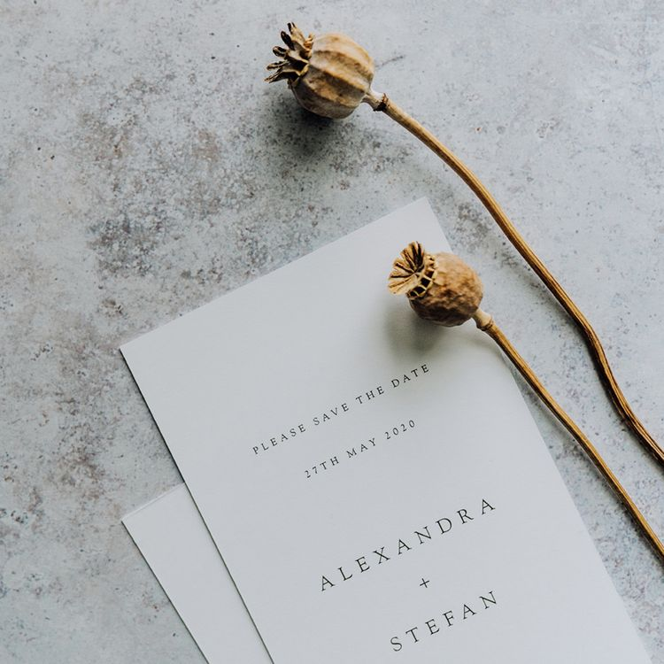 Made By Wood and Wood Minimal Save The Date