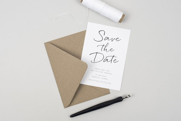 Pear Paper Co. Hand Drawn Simple Save The Date