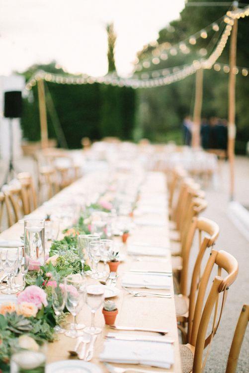 Al Fresco Wedding Breakfast with Fairylights