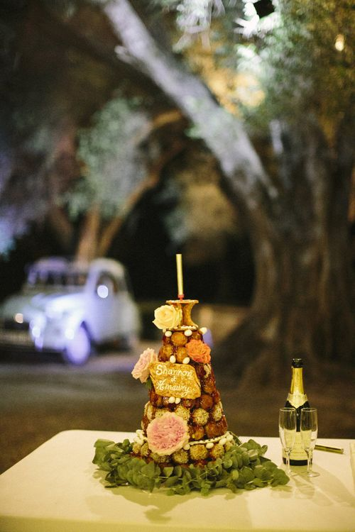 French Croque-en-bouche Wedding Cake