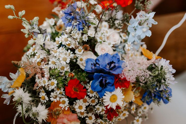 Wildflower bouquet for micro wedding