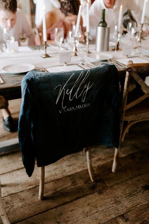 Personalised bridal denim jacket