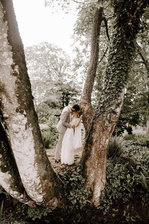 Bride and groom at Irish wedding