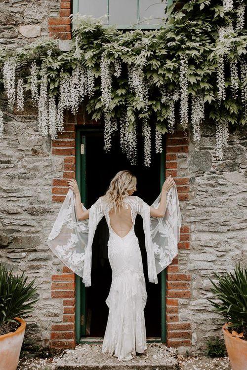 Batwing wedding dress from Rue De Seine