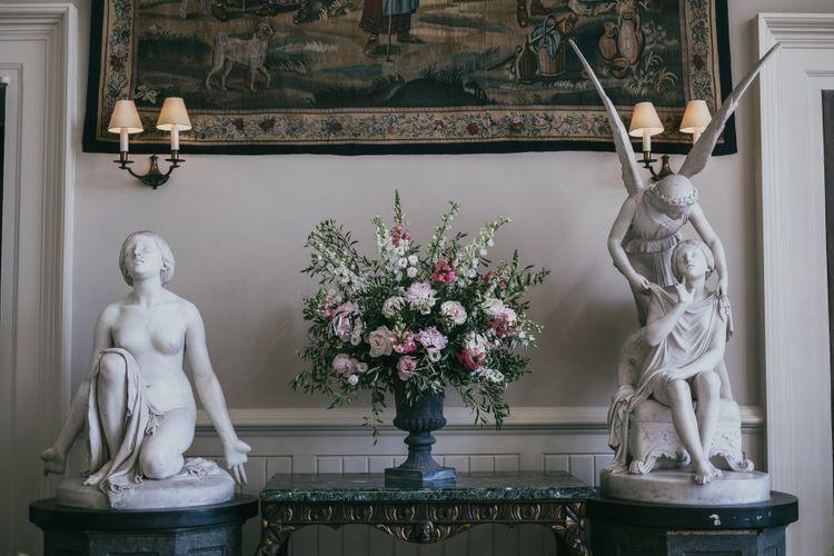 Pink and White Wedding Flower Arrangement
