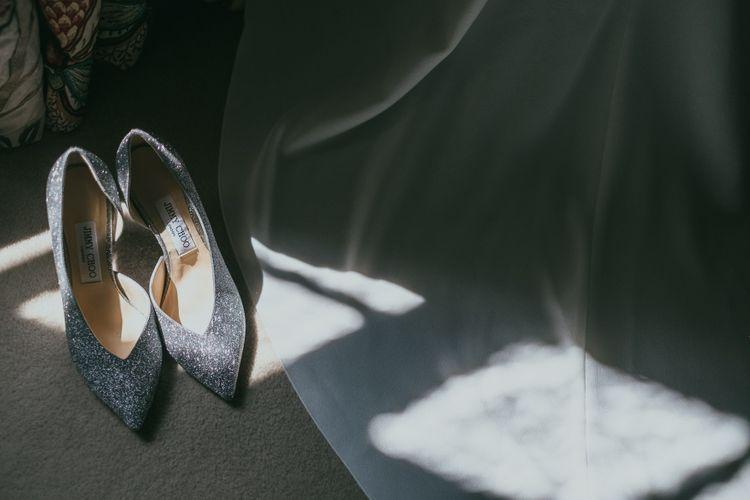 Silver Jimmy Choo Bridal Shoes