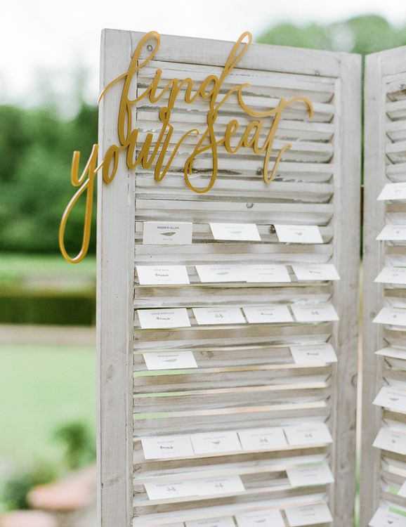 Shutter Table Plan For Wedding // Images By Julie Michaelsen Photography