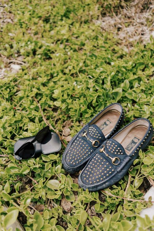 Grooms Loafers and Sunglasses Wedding Accessories