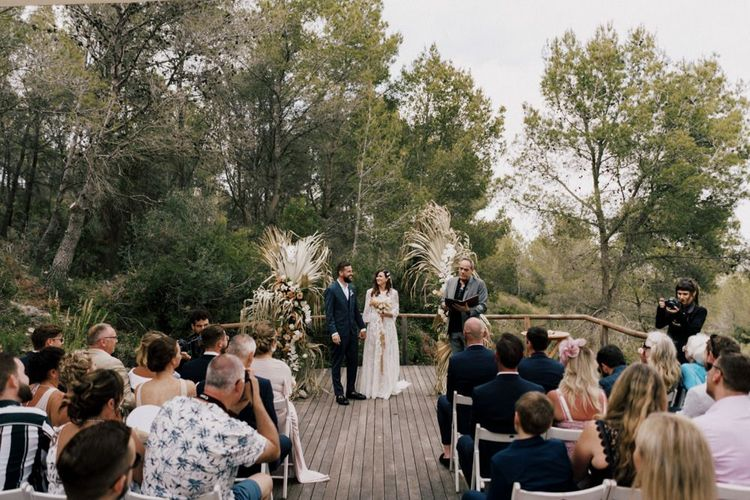 Outdoor Barcelona Wedding Ceremony at  Almiral de la Font Manor House