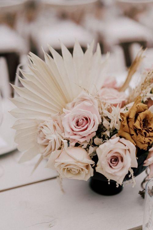Blush Pink and Nude Wedding Flower Centrepiece