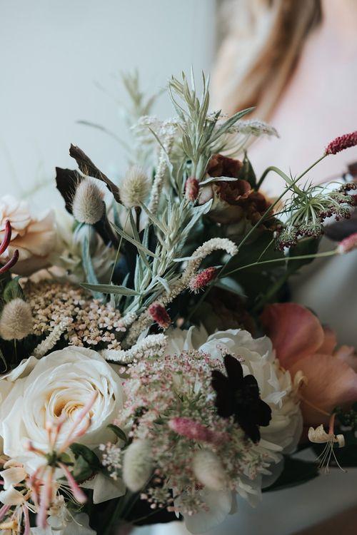 Neutral Wild Wedding Flower Bouquet