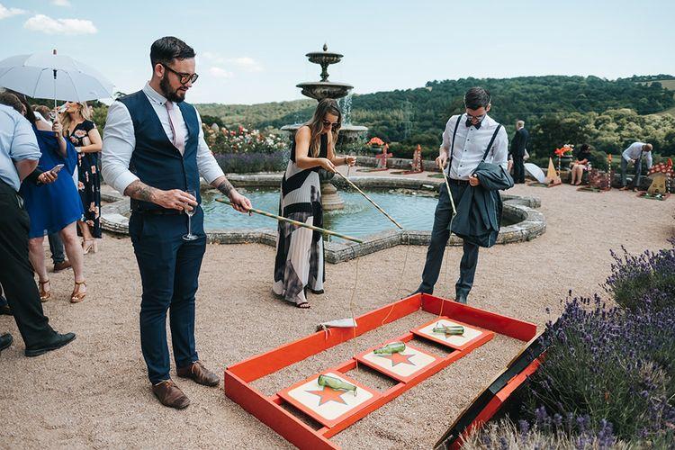 Wedding Guests Playing Fun Fair Garden Games