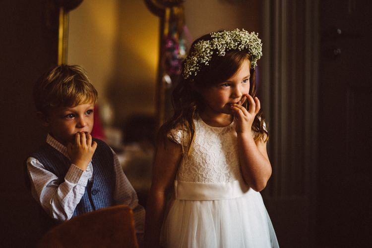 Flower Girl In Gyp Crown // Image By Ed Godden Photography