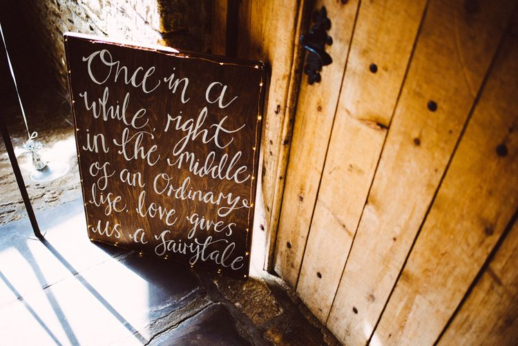 Welcome Sign For Wedding // Image By Ed Godden Photography