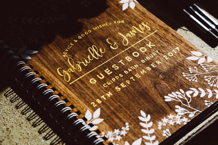 Rustic Guest Book For Wedding // Image By Ed Godden Photography