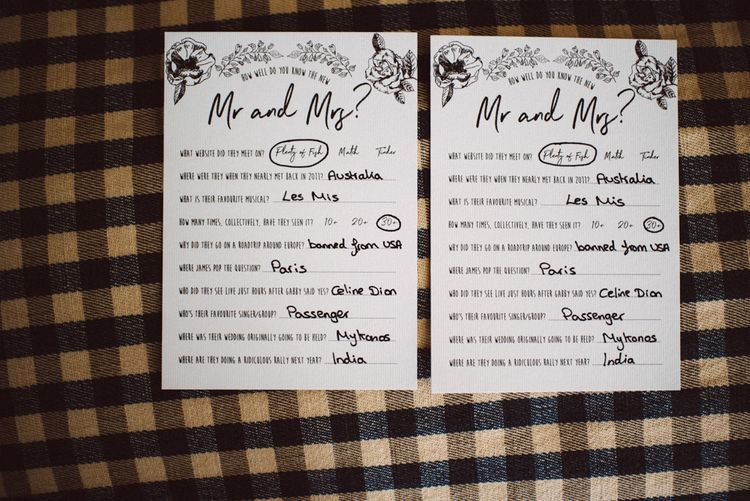 Mr & Mrs Cards For Wedding // Image By Ed Godden Photography