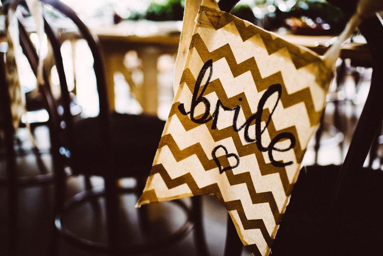 Bride Flag For Wedding // Image By Ed Godden Photography