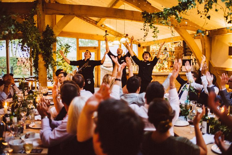 Singing Waiters For Wedding // Image By Ed Godden Photography