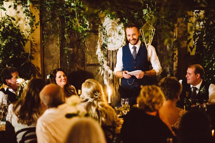 Wedding Speeches // Image By Ed Godden Photography