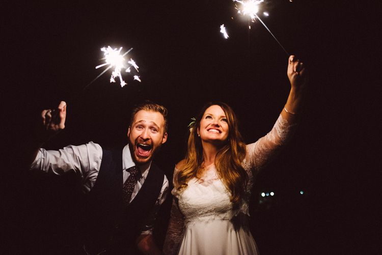 Wedding Sparklers // Image By Ed Godden Photography