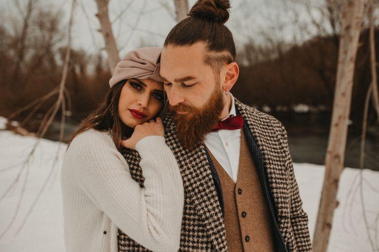 Intimate wedding portrait at Italian elopement