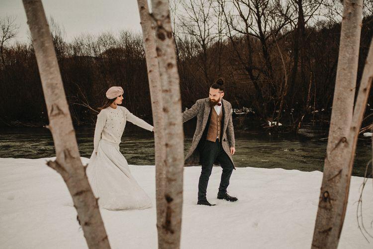 Snow wedding fashion