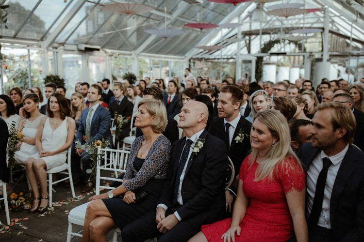 Wedding Ceremony     Orange, White & Green Boho Wedding at Clifton Nurseries London    Olivia & Dan Photography