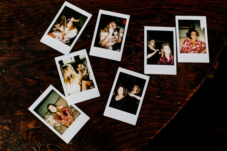 Polaroid Pictures | Colourful Alternative Winter Wedding at Upwaltham Barns, Sussex | Epic Love Story Photography
