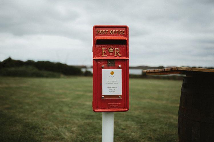 Red Wedding Card Post Box