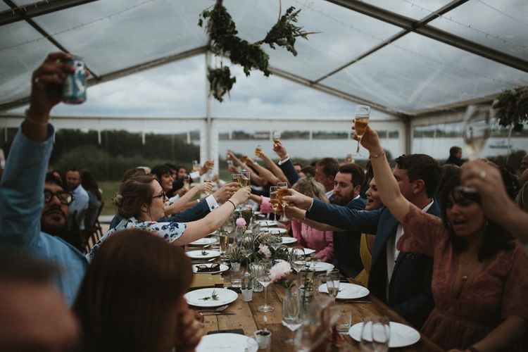 Wedding Cheers in Clear Span Wedding Reception