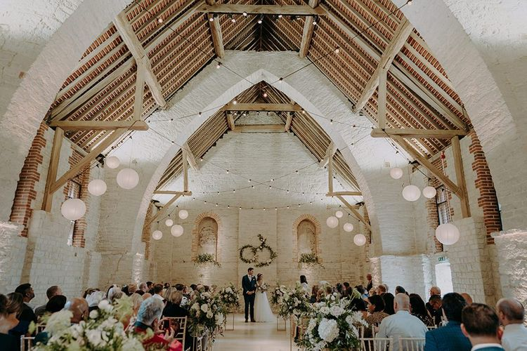 Tithe Barn Petersfield wedding ceremony
