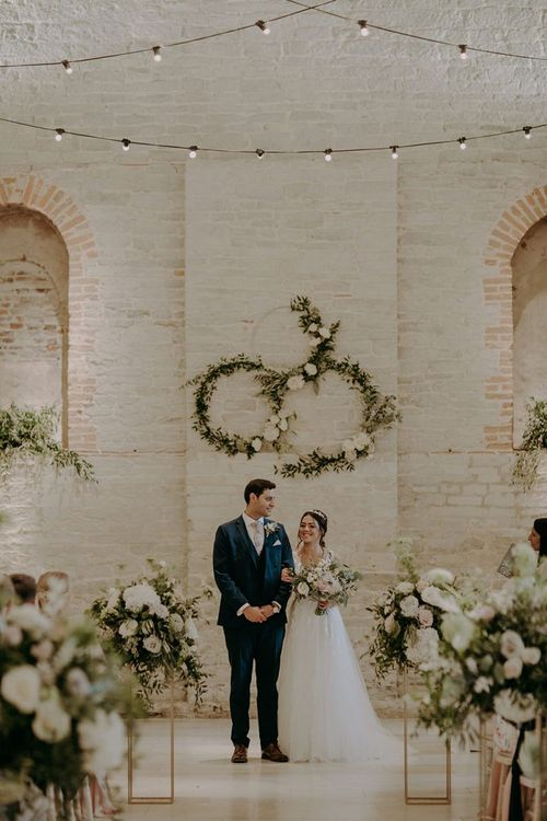 Hoop wedding ceremony decor