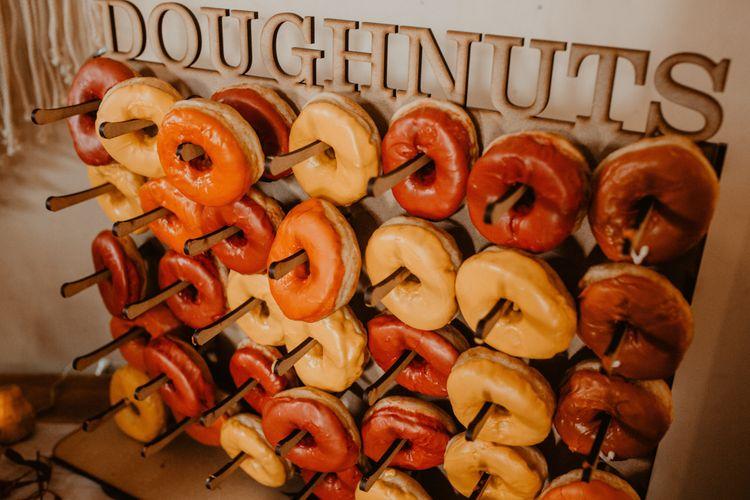 Doughnut Wall Wedding Reception Favours