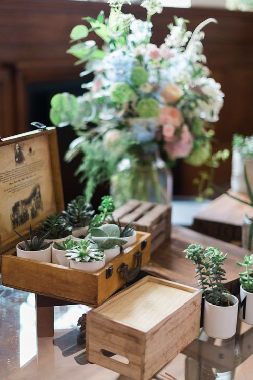 Succulents in Wooden Box | Large Pastel Bouquet in Glass Vase | Neon Sign and Marine Green Rewritten Bridesmaids Dresses with Lace Cape Grace Loves Lace Gown | Alain Mbouche Photography
