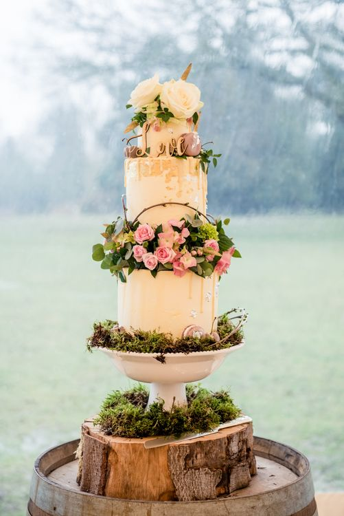Buttercream Wedding Cake // Sperry Tent Wedding With Romantic Meadow Inspired Styling