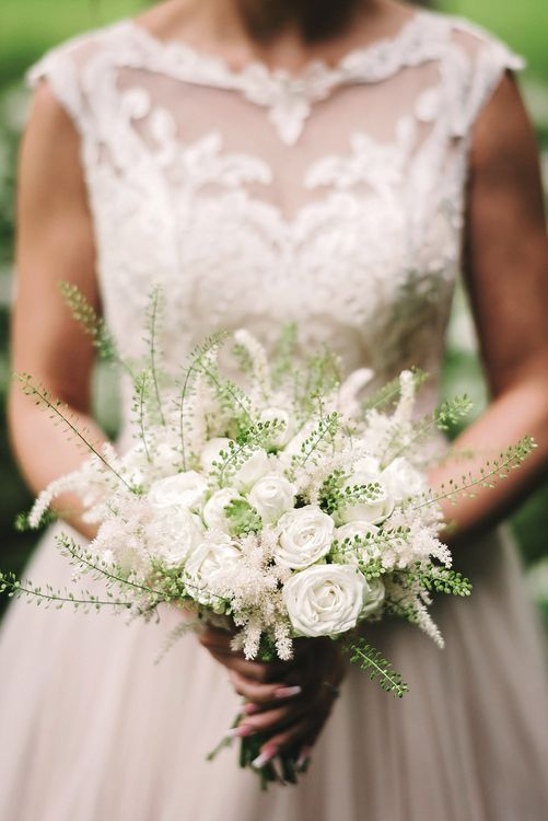 Bridal Bouquet | Pure & Simple White & Green Spring Wedding Inspiration by Forever Blossom | Spring Wedding Colours for 2019 | Matthew Bishop Photography