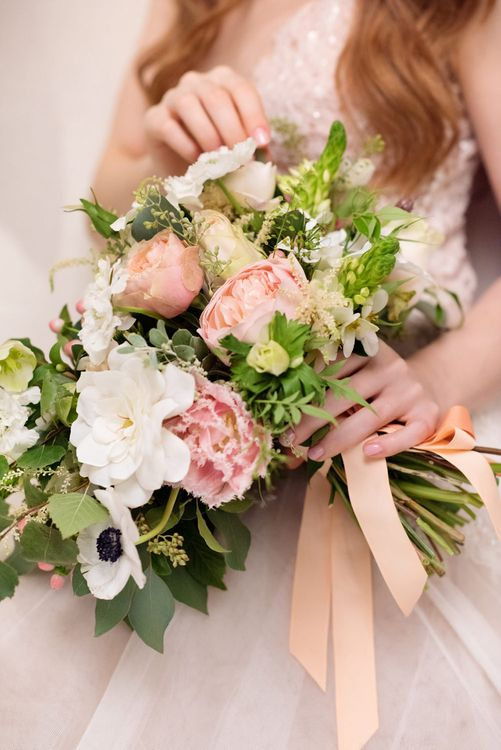 Spring Wedding Bouquet | Spring Wedding Colours for 2019 | Soft & Muted Spring Wedding Inspiration | Love At First Sight Floristry & Styling | Soft & Muted | Neli Prahova Photography