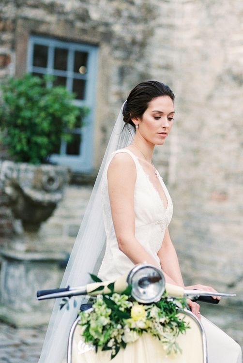 Bride on a Vespa | Spring Wedding Colours for 2019 | Zesty Spring Wedding Inspiration | Spring Wedding by  Weddingcreations UK| Bowtie and Belle Photography