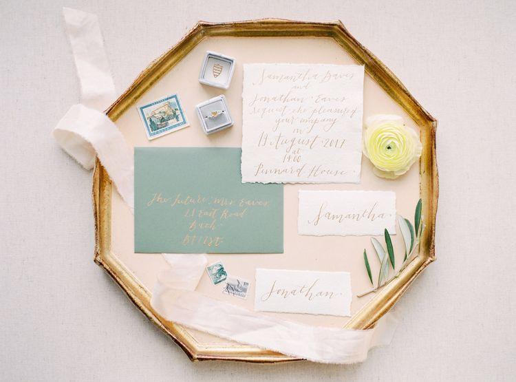 Elegant Wedding Stationery Suite | Spring Wedding Colours for 2019 | Zesty Spring Wedding Inspiration | Spring Wedding by  Weddingcreations UK| Bowtie and Belle Photography