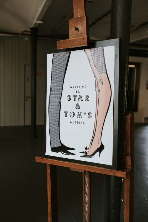 Personalised Legs Wedding Welcome Sign