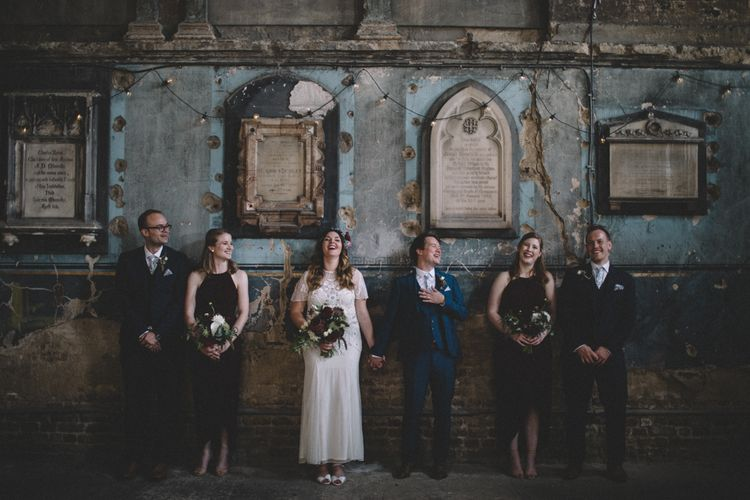 Asylum Chapel Wedding Ceremony // The Clapton Country Club LondonWedding With Bride In Embellished Dress With Images From Carrie Lavers Photography