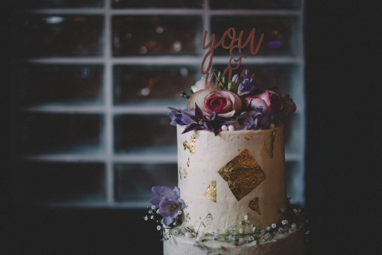 Copper Cake Topper For Wedding Cake // The Clapton Country Club London Wedding With Bride In Embellished Dress With Images From Carrie Lavers Photography