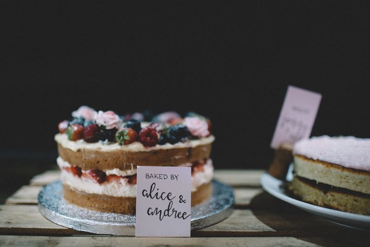 Wedding Cake // The Clapton Country Club London Wedding With Bride In Embellished Dress With Images From Carrie Lavers Photography