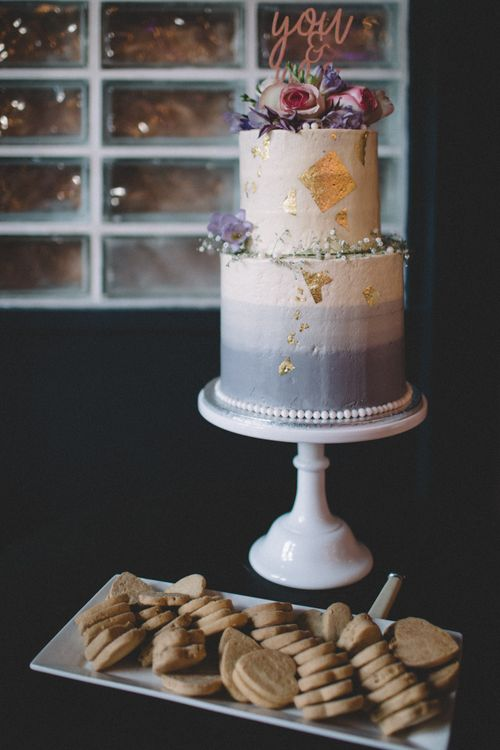 Wedding Cake With Grey Ombre Buttercream Icing // The Clapton Country Club London Wedding With Bride In Embellished Dress With Images From Carrie Lavers Photography